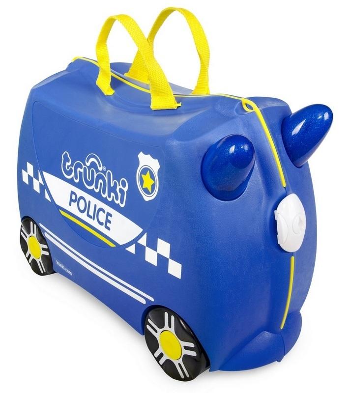 Jeżdżąca walizeczka - Radiowóz Percy + naklejki | Trunki