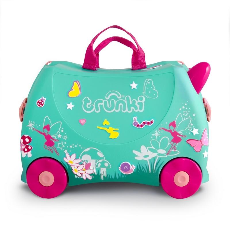 Jeżdżąca walizeczka Wróżka Flora + naklejki   Trunki