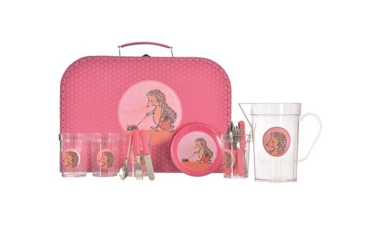Zestaw piknikowy w walizce Jeżyki