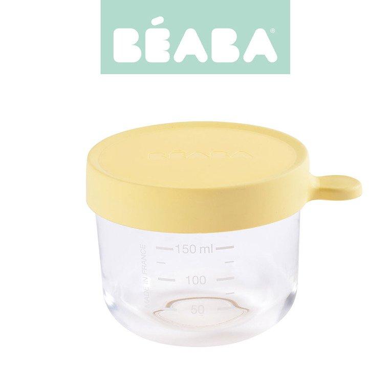 Pojemnik słoiczek szklany z hermetycznym zamknięciem 150 ml yellow | Beaba