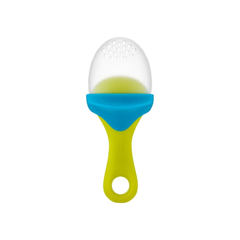Silikonowy gryzak na owoce green/blue | Boon