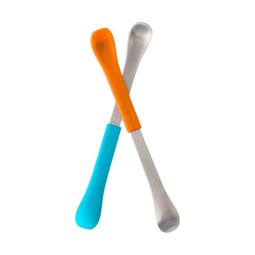 Dwustronne łyżeczki blue/orange Boon