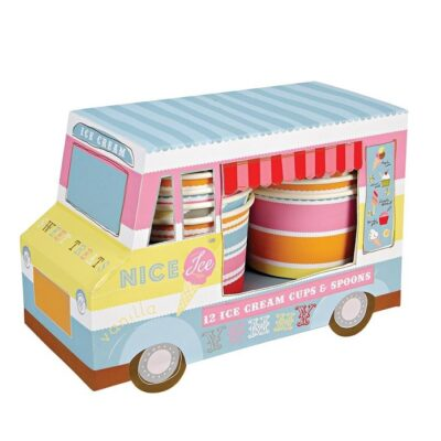Mini lodziarnia z zestawem kubeczków