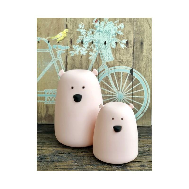 Lampka Miś mały różowy | Rabbit&Friends