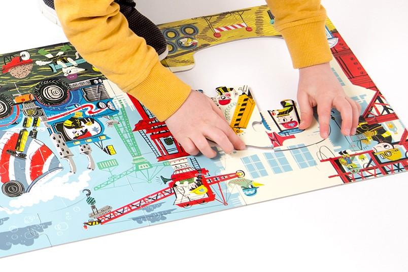 Dłuuugie puzzle na budowie 40 el. 3+ CzuCzu