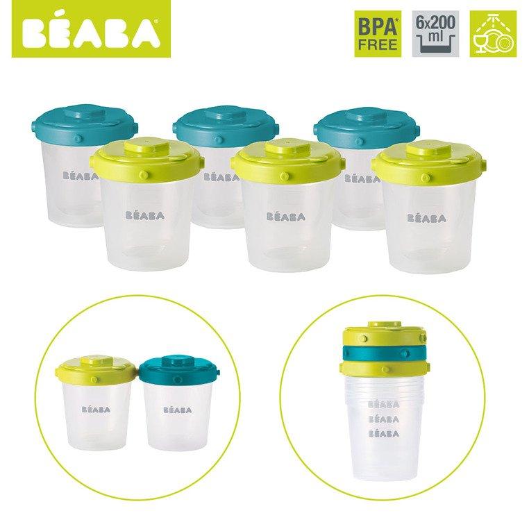 Zestaw słoiczków Clip 6 szt. 200 ml  | Beaba