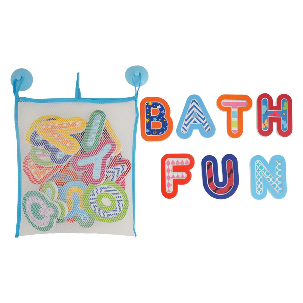Piankowe naklejki do kąpieli Alfabet