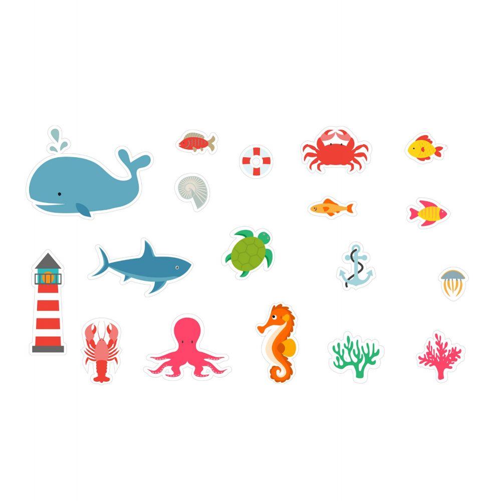 Piankowe naklejki do kąpieli Podwodny świat