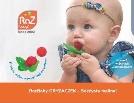 Szczoteczka-gryzaczek do masowania dziąsełek | RazBaby