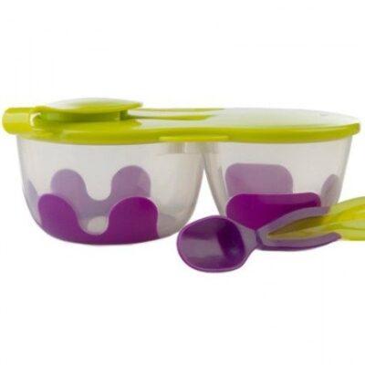 Podwójny pojemnik na żywność fioletowo-zielony | B.Box