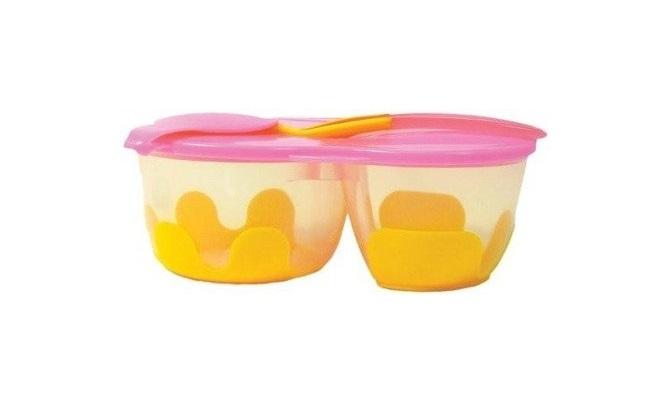 Podwójny pojemnik na żywność pomarańczowo-różowy   B.Box