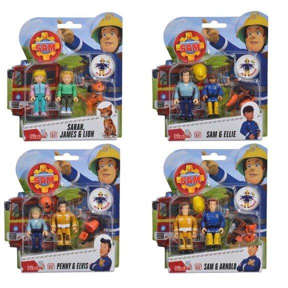 Figurki Strażak Sam II 2-pak, 4 rodzaje | Simba