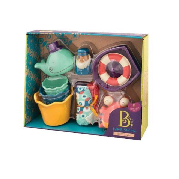 Zestaw prezentowy dla niemowląt Niebieski - do kąpieli | B.Toys