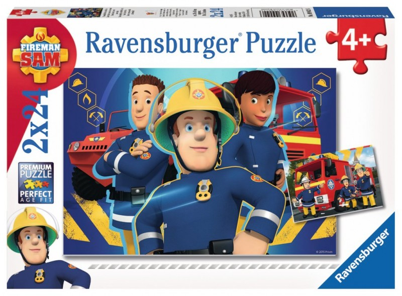 Puzzle Strażak Sam 2x24el
