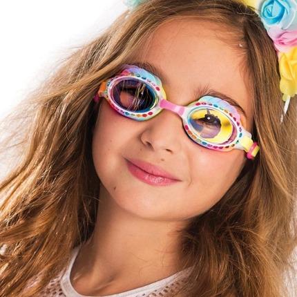 Okulary do pływania Jednorożec, tęczowe | Bling2o