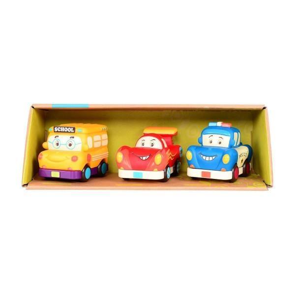 Miękkie autka mini z wyścigówką 3szt | B.Toys