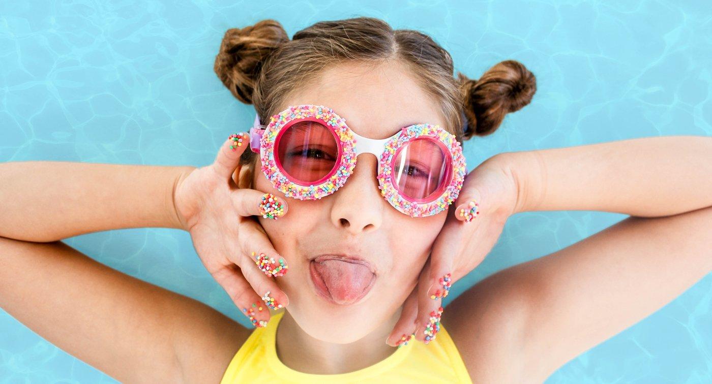 Okulary do pływania Posypka cukrowa - fioletowe | Bling2o