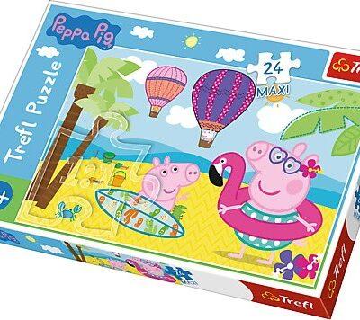 Puzzle Maxi Peppa na wakacjach 24el. | Trefl