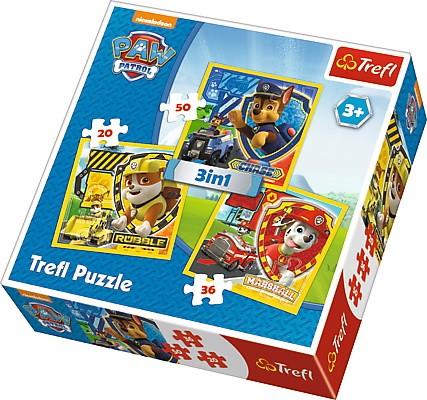 Puzzle Psi Patrol 3w1 20/36/50 elementów