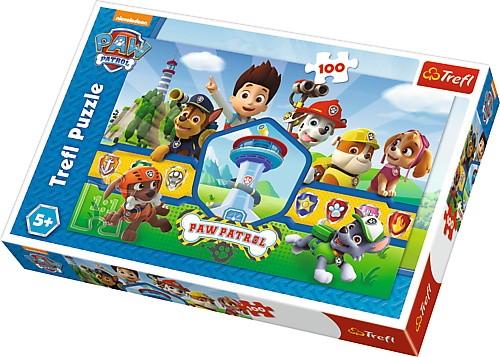 Puzzle Psi Patrol bohaterska drużyna 100el