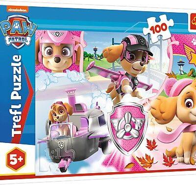 Puzzle Psi Patrol Skye w akcji 100el
