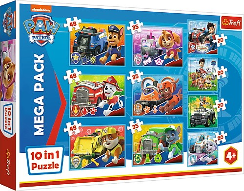 Psi Patrol puzzle 10w1 | Trefl