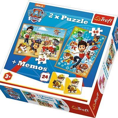 Psi Patrol Memory + 2x Puzzle - 30 i 48el