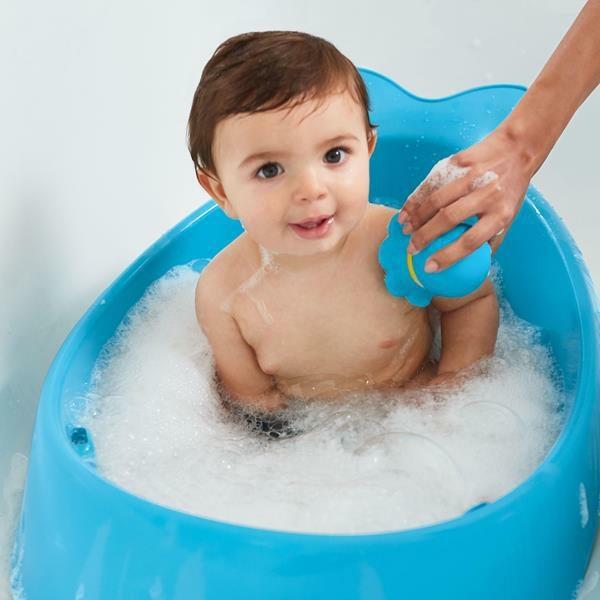 Silikonowa myjka do kąpieli z dozownikiem Wieloryb MOBY