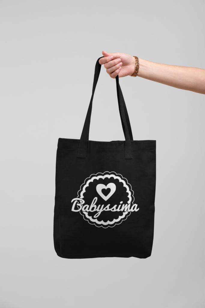 Bawełniana torba Czarna | Babyssima