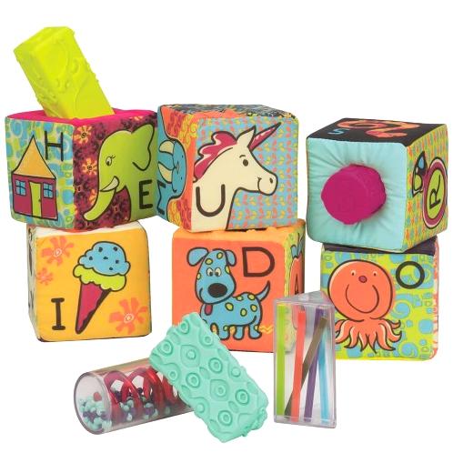 Miękkie klocki sensoryczne B.Toys