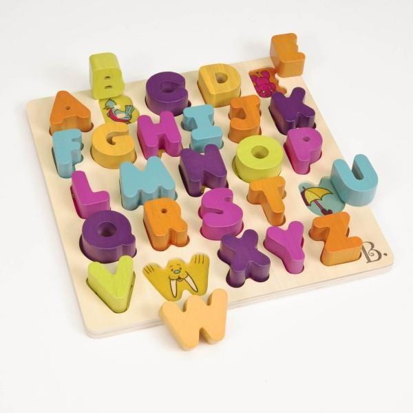 Drewniany alfabet literki B.Toys