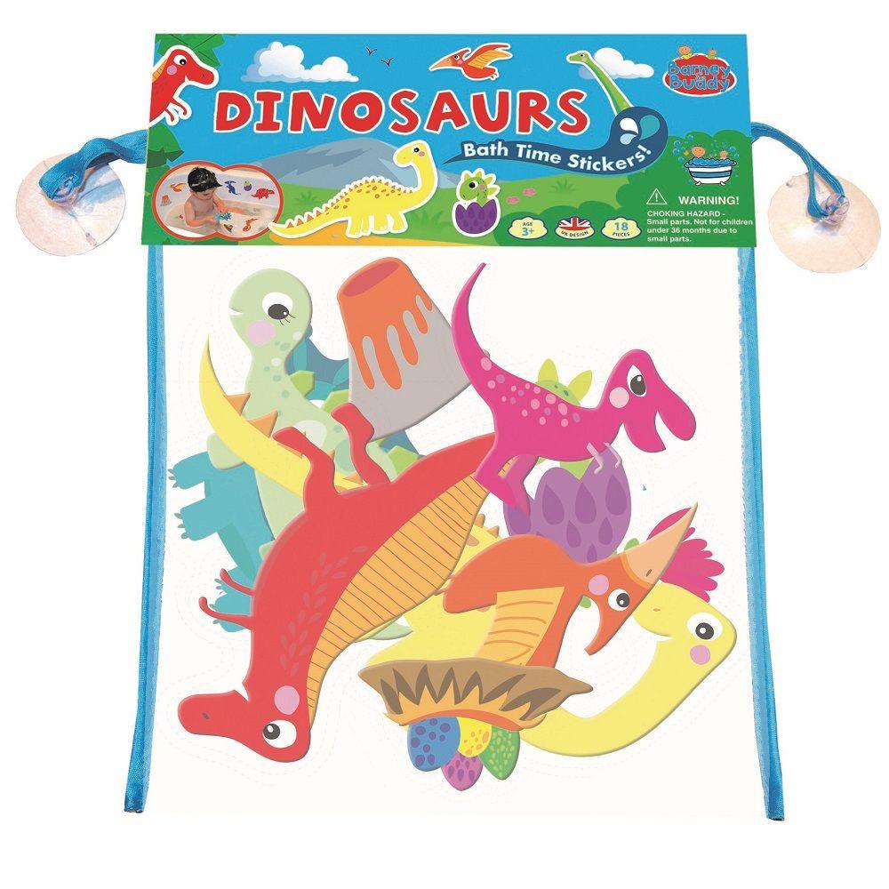 Piankowe naklejki do kąpieli Dinozaury