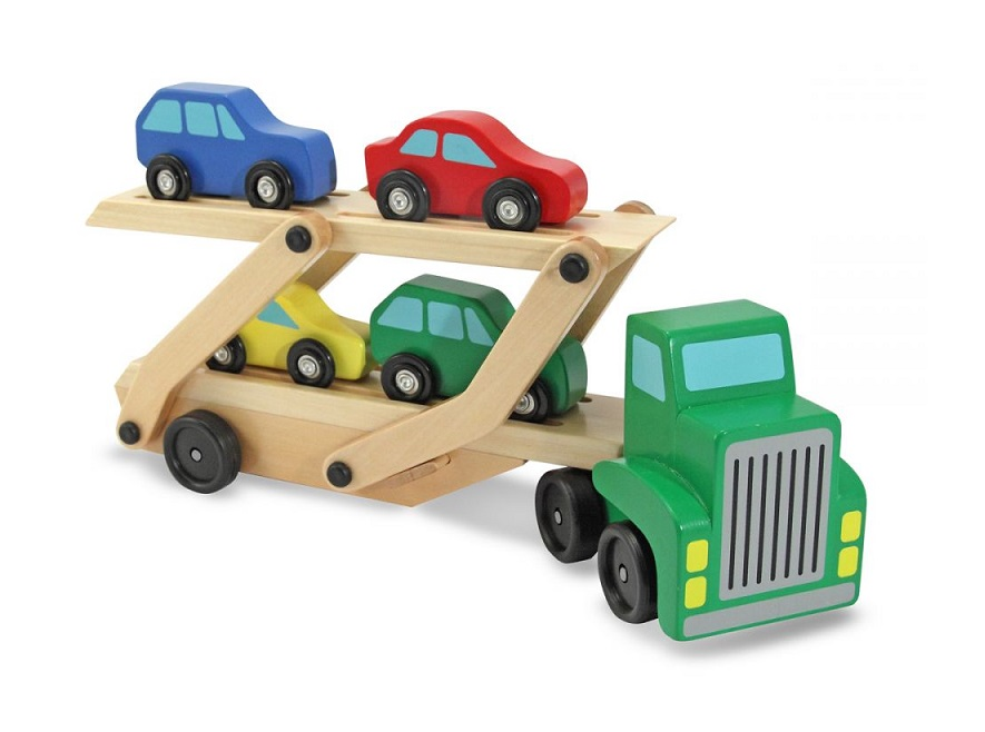 Drewniana ciężarówka z lawetą i autkami | Melissa&Doug