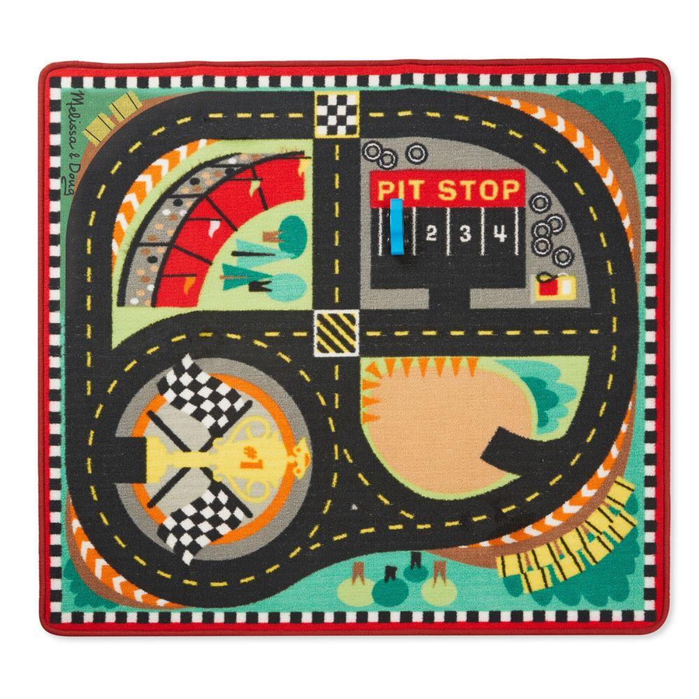 Mata podłogowa – tor wyścigowy 100x90cm + autka | Melissa&Doug