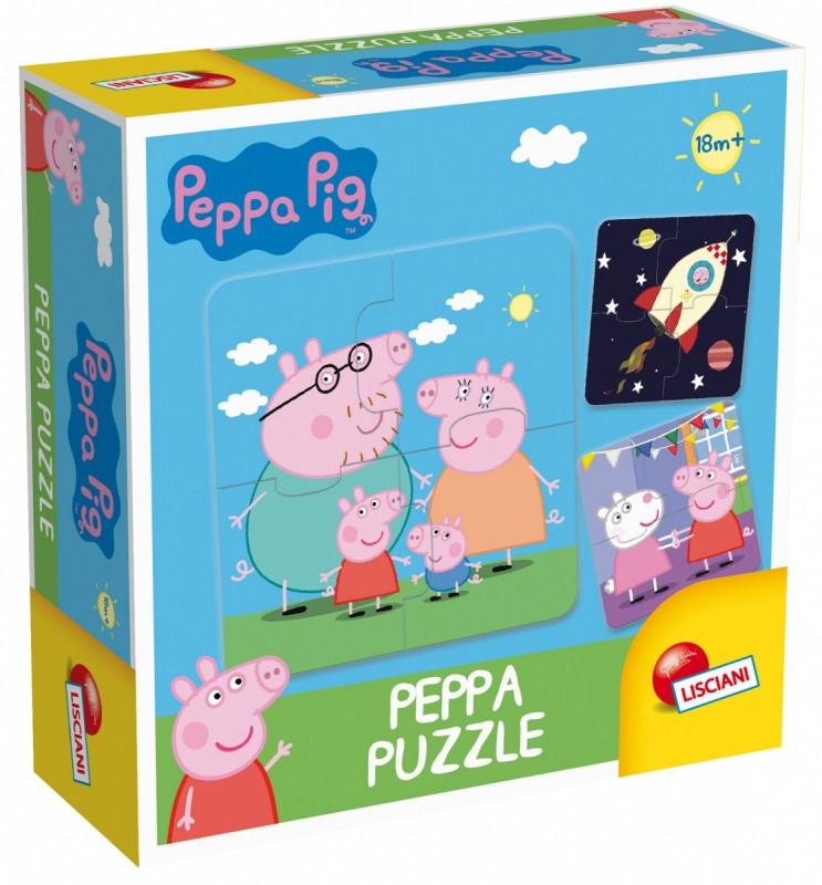 Pierwsze puzzle Świnka Peppa 8x4el | Lisciani