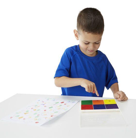Stempelki – Tusze 6 kolorów | Melissa&Doug