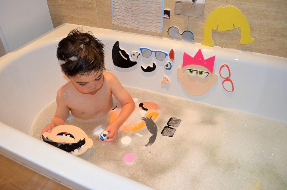 Piankowe naklejki do kąpieli Śmieszne twarze
