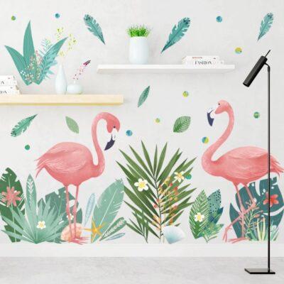 Naklejka ścienna Flamingi XXL