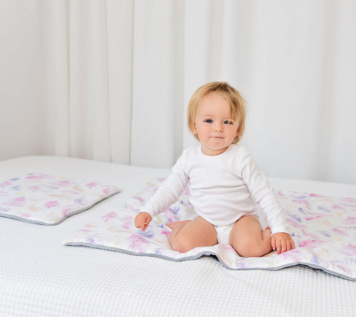 Poduszka niemowlaka i starszaka – paprocie róż   Lullalove