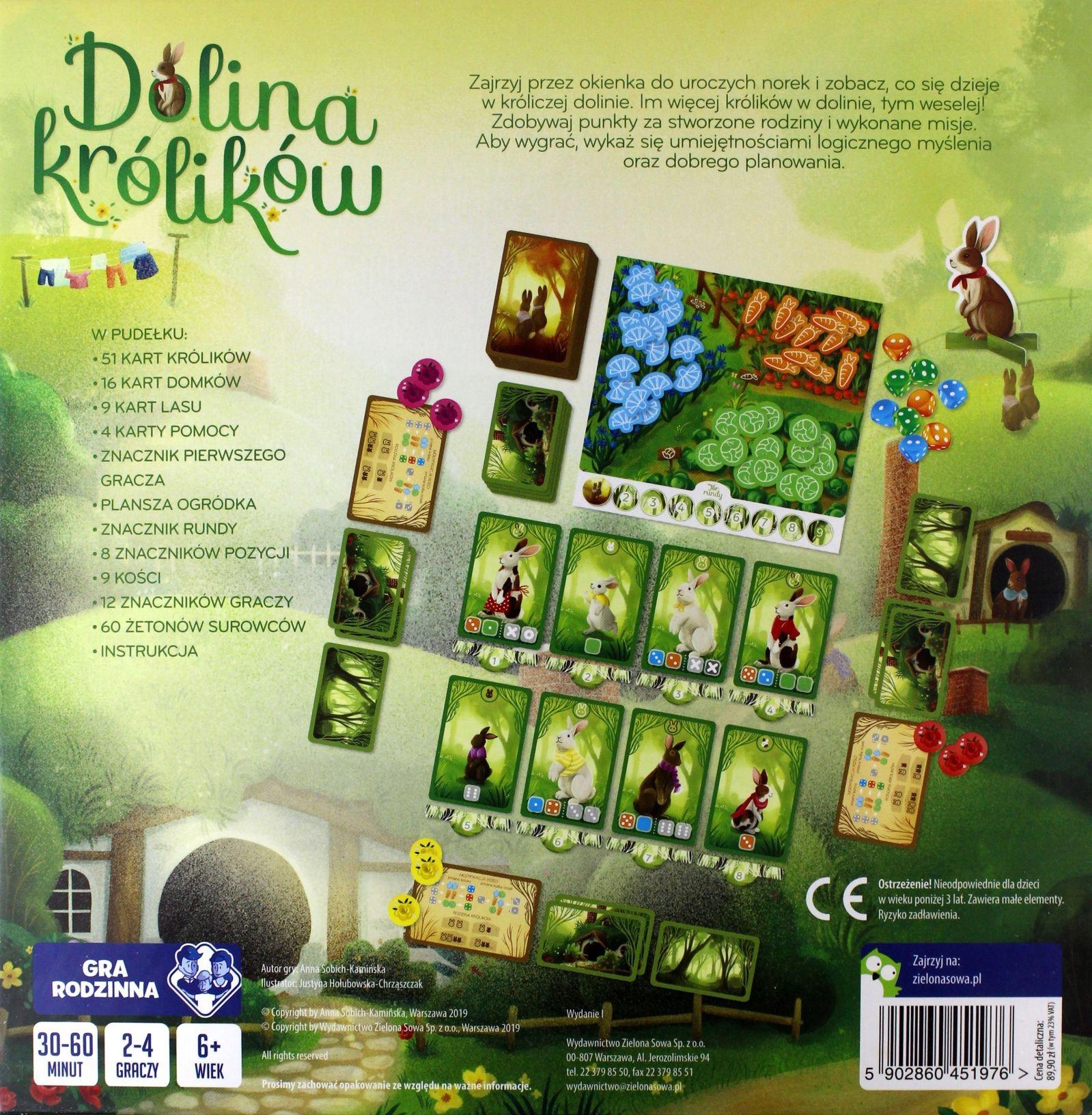 Gra planszowa Dolina królików | Zielona Sowa