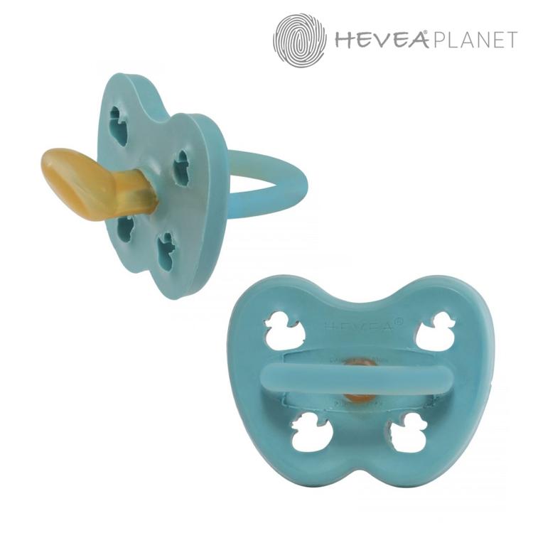 Anatomiczny smoczek kauczukowy, 0-3 msc, Kaczuszki Twilight Blue, HEVEA