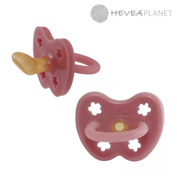 Anatomiczny smoczek kauczukowy, 0-3 msc, Kwiatki Watermelon, HEVEA