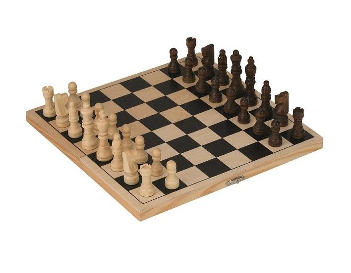 Drewniane szachy klasyczne