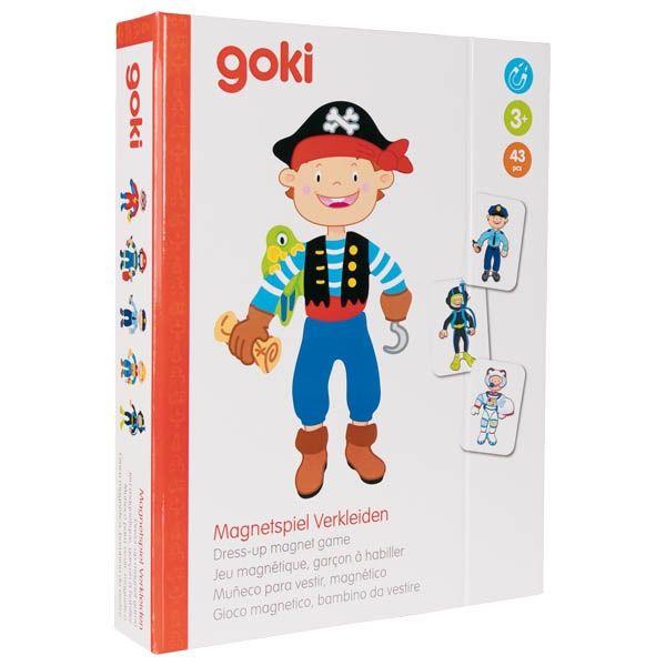 Magnetyczna układanka ubierz chłopca | Goki