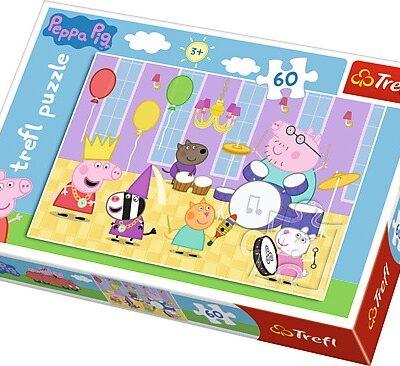 Puzzle Świnka Peppa na balu 60el