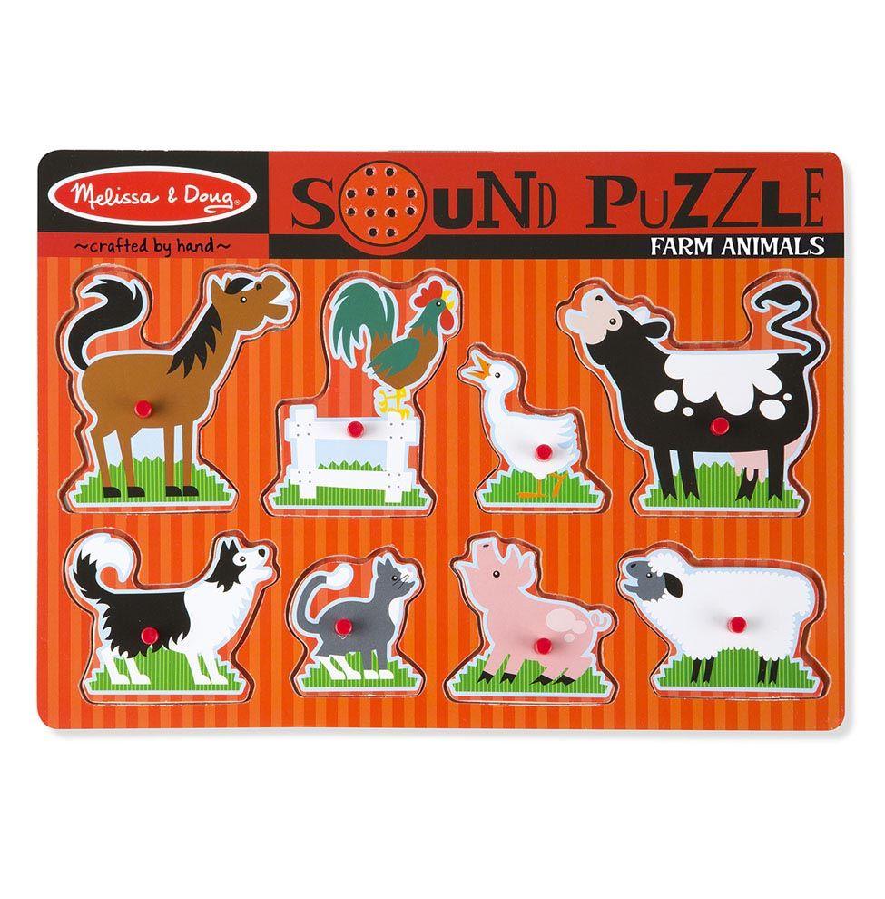 Puzzle dźwiękowe - Zwierzęta z farmy | Melissa&Doug