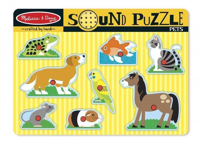 Puzzle dźwiękowe – Zwierzęta domowe | Melissa&Doug