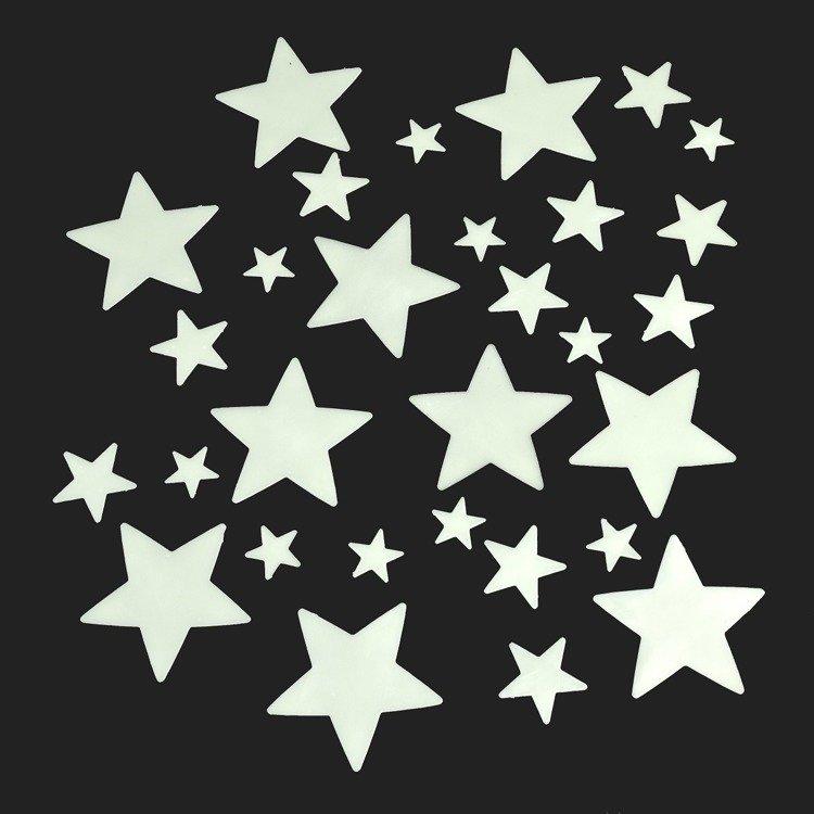 Świecące w ciemności gwiazdki 30 szt. |Rex London