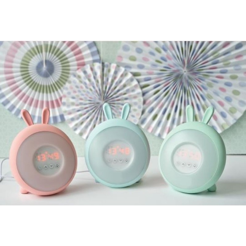 Lampka – zegarek Króliczek , budząca światłem – 3 kolory
