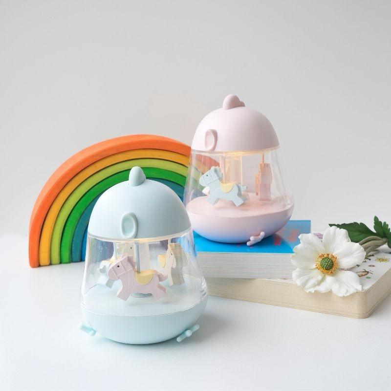 Lampka z pozytywką Niebieska   Rabbit&Friends